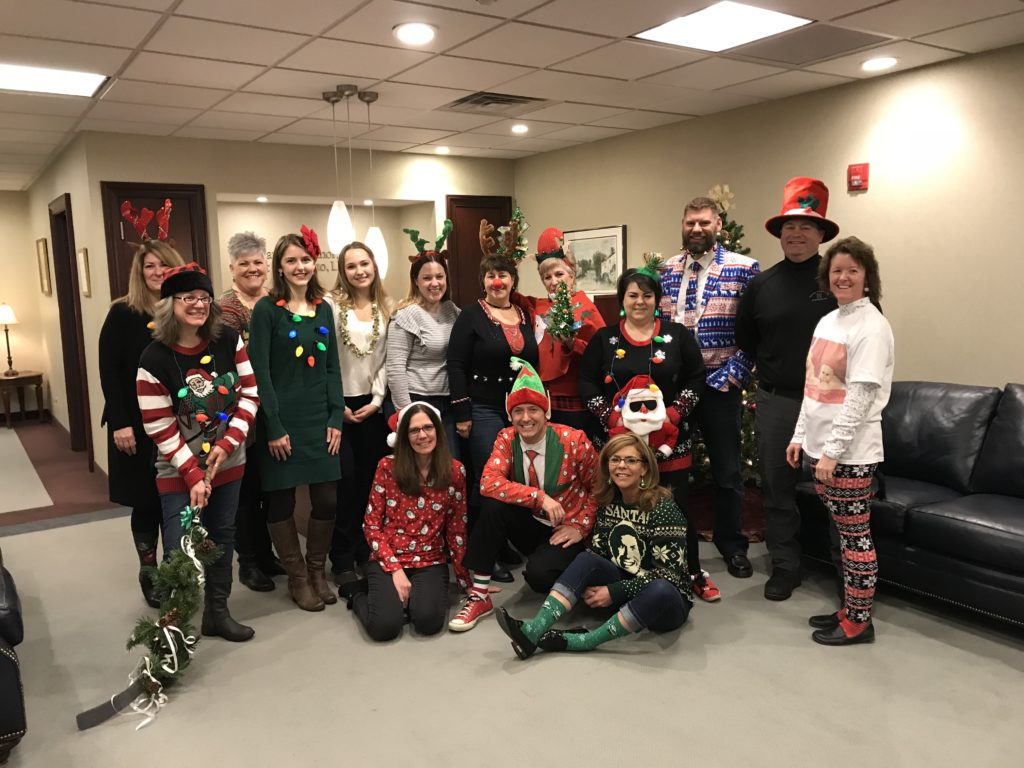 The participants of the competition wearing their festive outfits